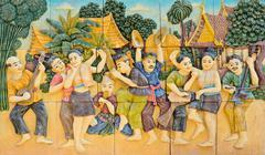 Syntyperäinen thai stukkotöillä Kuvituskuvat