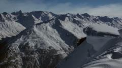 Mountain ridge tracking right Stock Footage