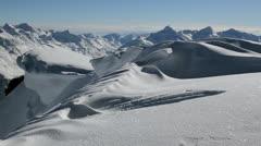 Mountain ridge Austria Stock Footage