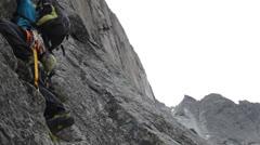 Alpine climbing chamonix 2 Stock Footage