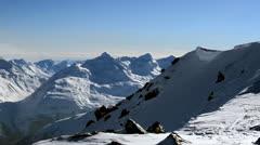 Mountain landscape pan left Stock Footage