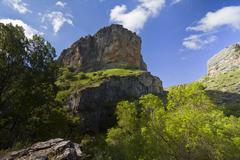 River dulce cliffs in guadalajara, spain Stock Photos