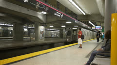 subway train station toronto ontario canada - stock footage