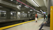 Subway train station toronto ontario canada Stock Footage