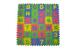 Colorful rubber puzzle Stock Photos