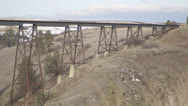 Stock Video Footage of Rusty Bridge Wide