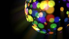 rainbow disco ball - stock footage