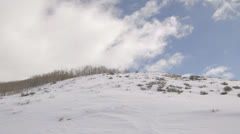 Snowy hill Stock Footage