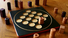 Wooden Board Game Stock Footage