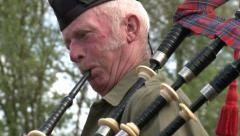 Scottish Bagpipe Player  Stock Footage