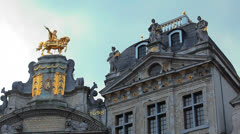 Belgium, Grand-Place - Brussels 12 Stock Footage