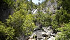 Yosemite LM48 Cascade Falls Upper Dolly R Stock Footage