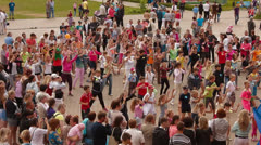 Group of children dancing Stock Footage