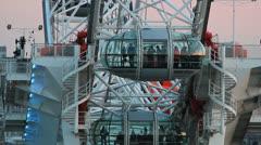 People in London Eye. Westminster Bridge, POV  - UK  Stock Footage