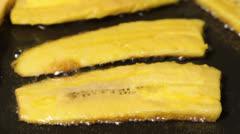 Fried bananas Stock Footage