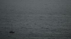 Boat in dark water Stock Footage