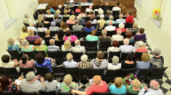 People waiting concert Stock Footage