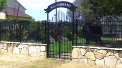 K-9 Command Cemetery For Military Police Dogs -San Pedro CA Stock Footage
