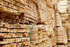 Stack of timber wood Stock Photos