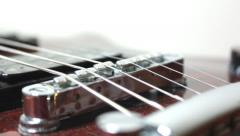 Guitar on white background Stock Footage
