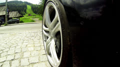 Wheel close up Stock Footage