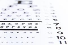close up image of eye chart - stock photo