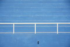 Stadium bleachers - blue Stock Photos