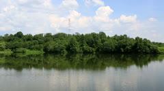 Ptitsegradsky pond. sergiev posad. moscow region. russia. Stock Footage
