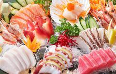 sashimi background - stock photo