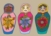 Stock Illustration of russian nested doll, matrioshka set