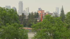 Timelapse Skyline of Nanjing with Zifeng Tower, Nanjing, China Stock Footage