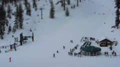 Winter Skiing Action Stock Footage