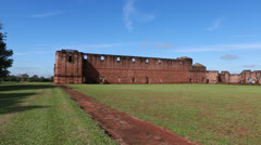 The Reduction  Jesús de Tavarangüe in Paraguay - stock footage