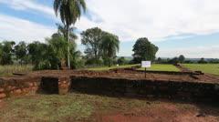 The Reduction  Jesús de Tavarangüe in Paraguay Stock Footage