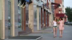 Walk and talk - stock footage