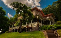 Stock Photo of the asa packer mansion, jim thorpe, pennsylvania.