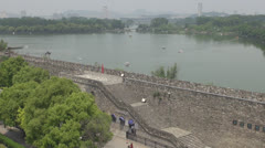 Xuanwu Lake by day, Nanjing, China Stock Footage