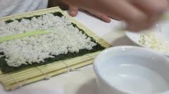 Preparing Makizushi Stock Footage