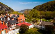 Stock Photo of spring view of harper's ferry, west virginia.