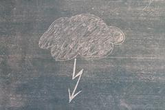 Symbol on a blackboard, child chalk drawing Stock Photos