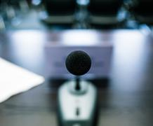 Subjective microphone Stock Photos