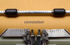 Newsletter Stock Photos