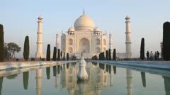 Taj Mahal - stock footage