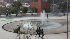 Fountain of a university - stock footage
