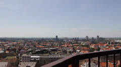 Panoramic view from the Lostrčak Tower, Zagreb Stock Footage