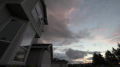 Colorful Sunset with Fast Moving Clouds at Dusk 1080p Stock Footage
