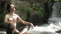 Meditation peace Stock Footage