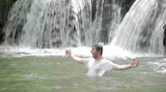 -  happiness - a man exult  rejoice  triumph - stock footage
