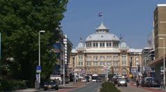 SCHEVENINGEN, THE NETHERLANDS -  Kurhaus Hotel zoom out Badhuisweg Stock Footage