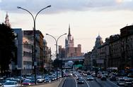 Stock Photo of bolshaya sadovaya street in moscow in evening